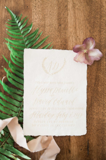 custom wedding invitation by Miranda Writes