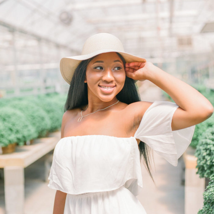 Ariel | greenhouse editorial photoshoot
