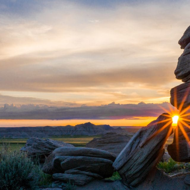 Nebraska sunrise photography at Toadstool