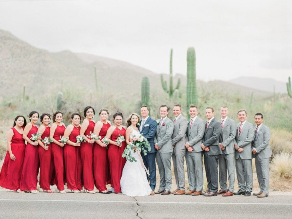 wedding party in the Sonoran Desert