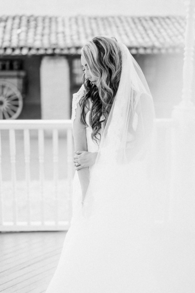 film photography of a bride at an Arizona wedding