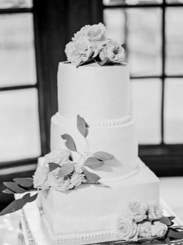 black and white film photography at a wedding reception