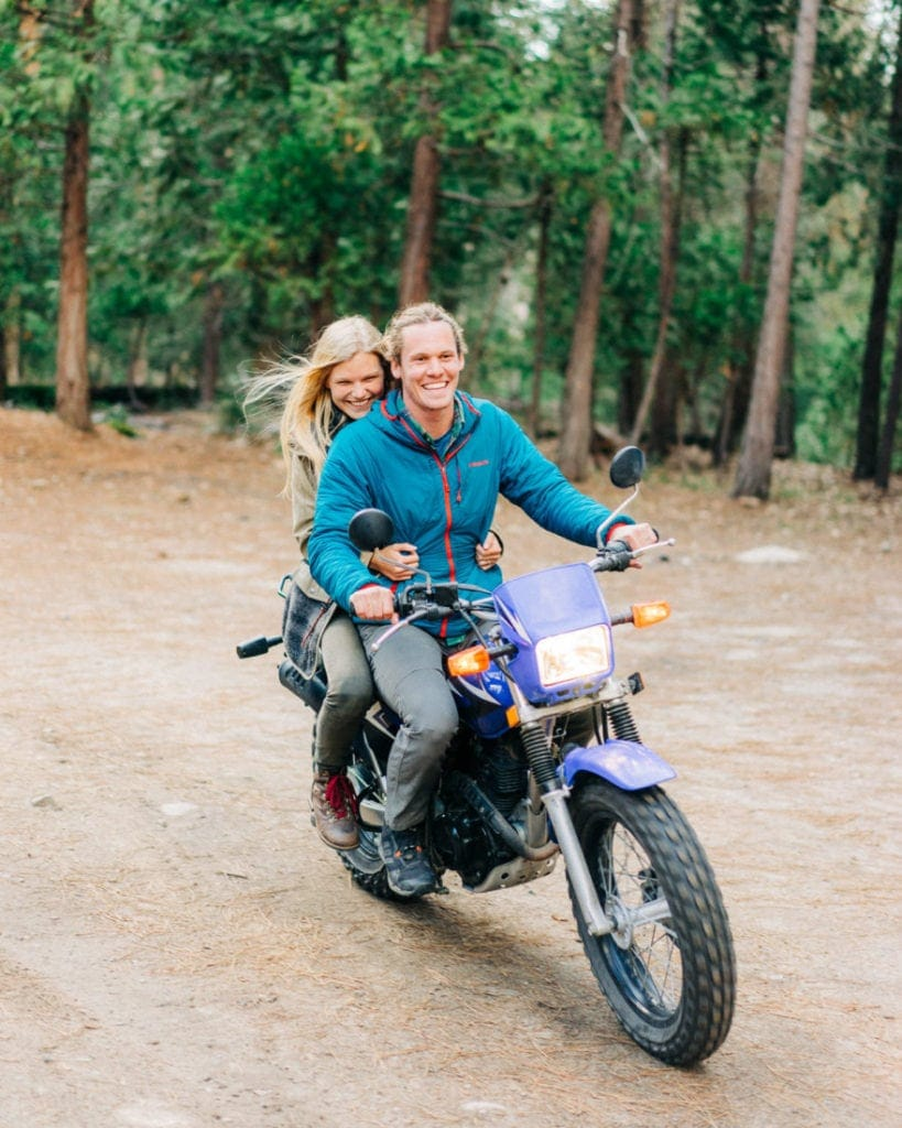 adventure session with The Hearnes on a motor bike