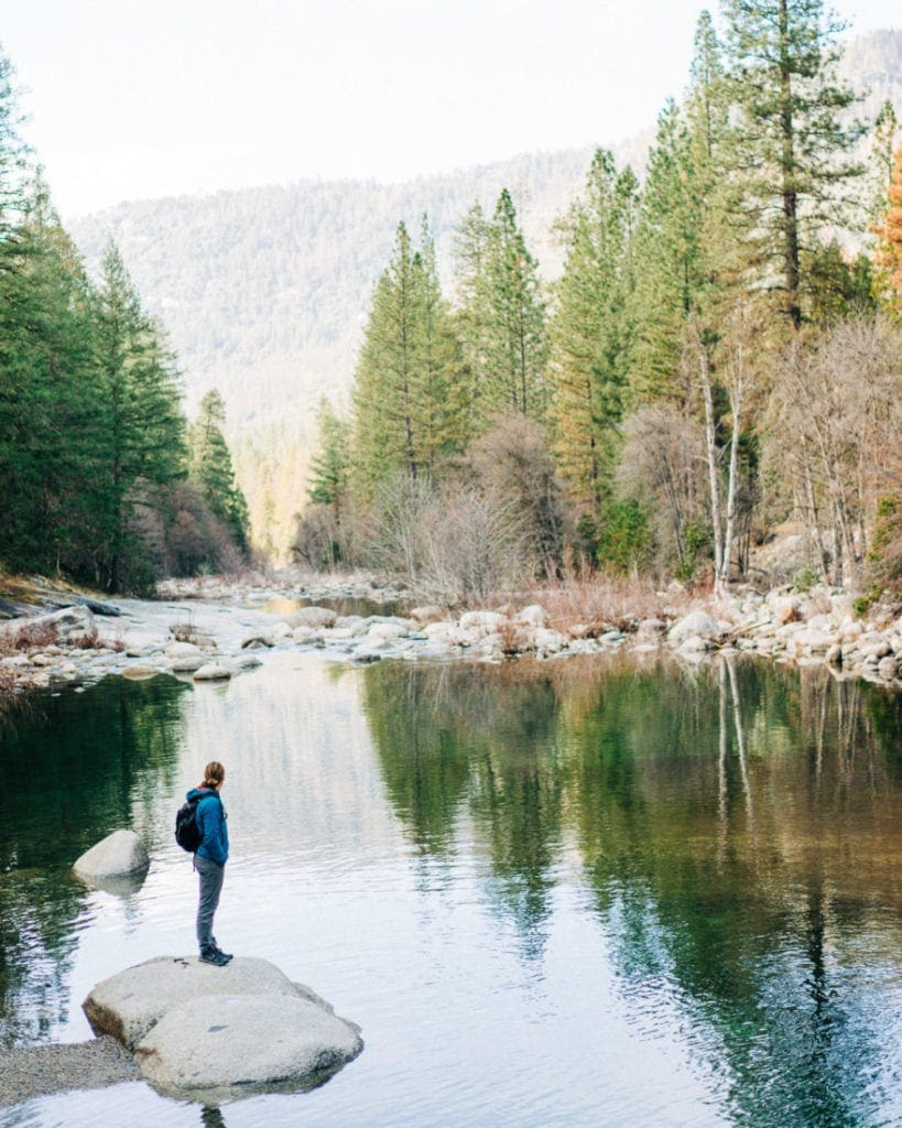 Callen Hearne in Yosemite National Park looking at the river