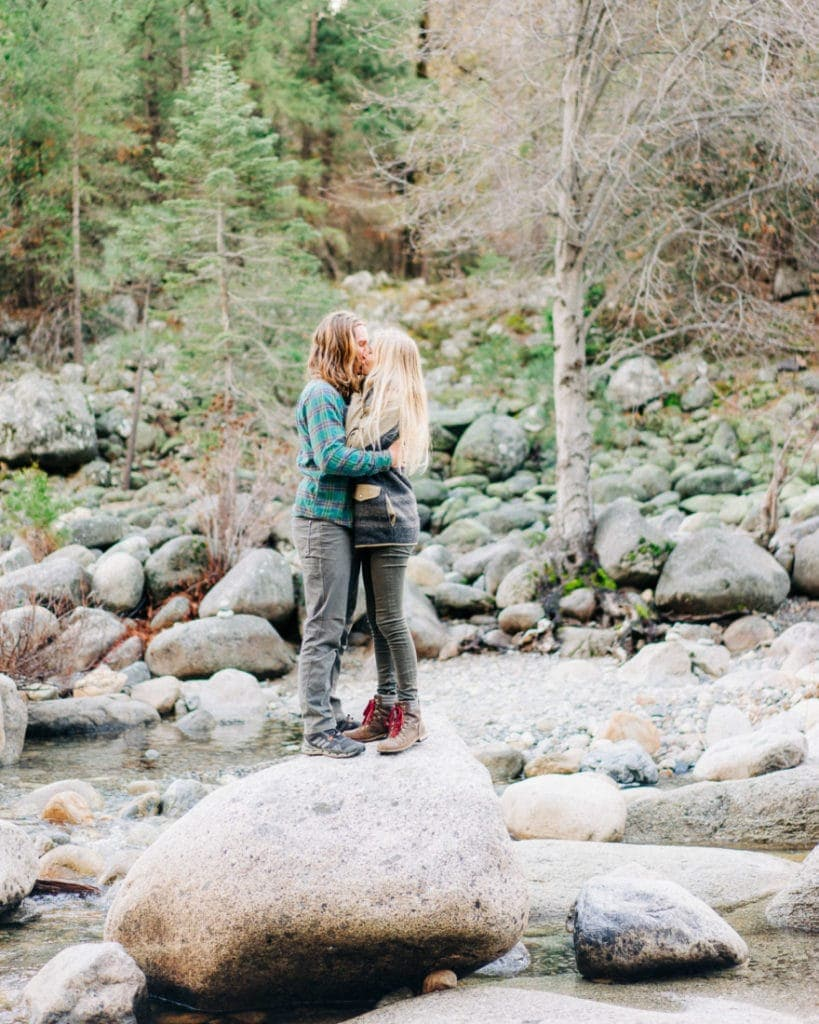adventurous engagement session in Yosemite
