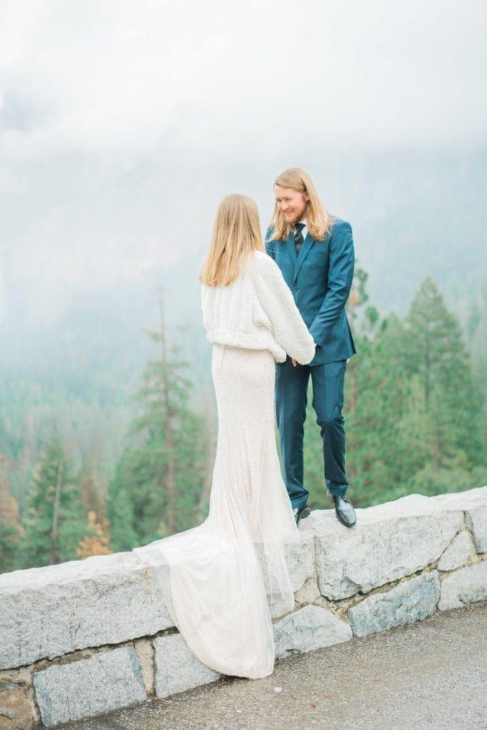 adventure wedding in Yosemite National Park
