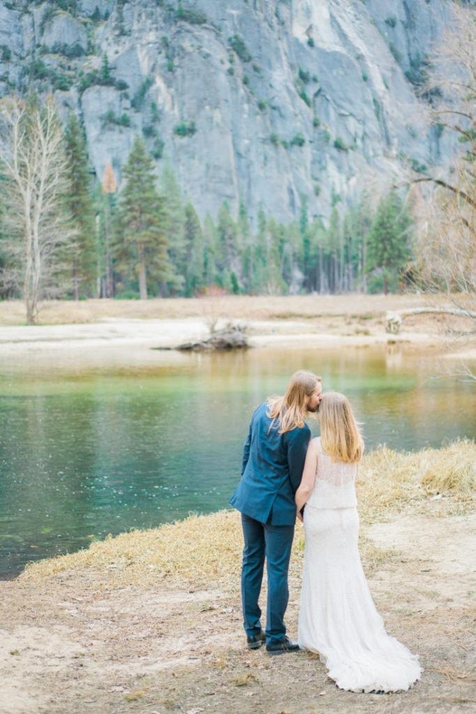adventure wedding photography on film in Yosemite