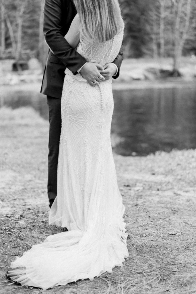 dirty dress from an adventure wedding