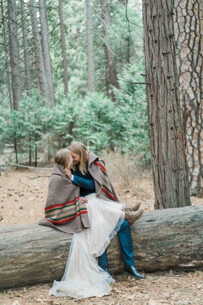 elopement in the redwoods in Yosemite