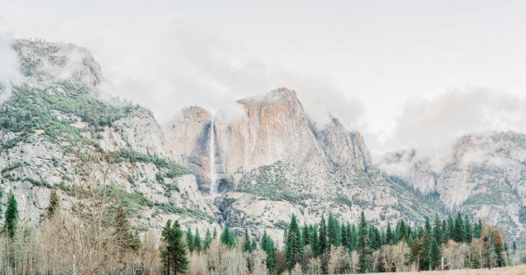 Yosemite Falls in Yosemite National Park California