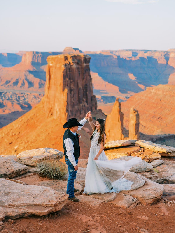 adventure elopement in the desert of Moab, Utah