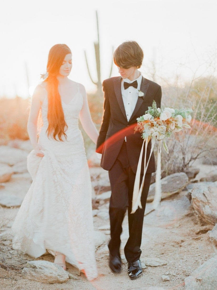 adventure elopement in Arizona desert