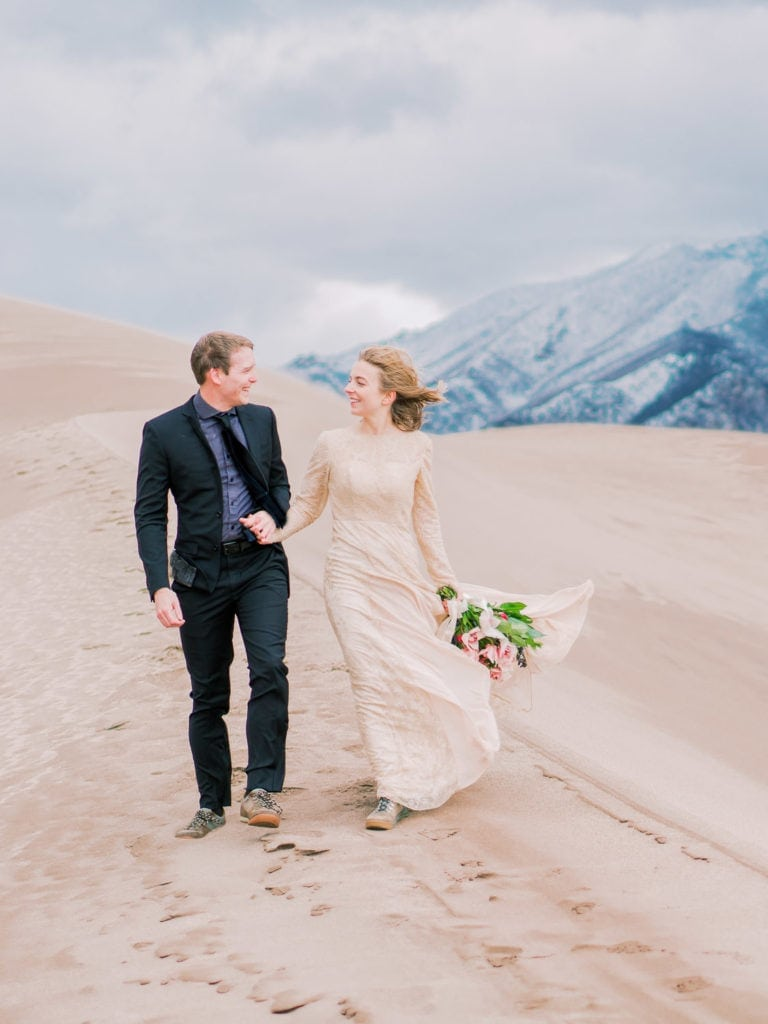 elopement in the Great Sand Dunes National Park in Colorado | by Malachi Lewis at Shell Creek Photography