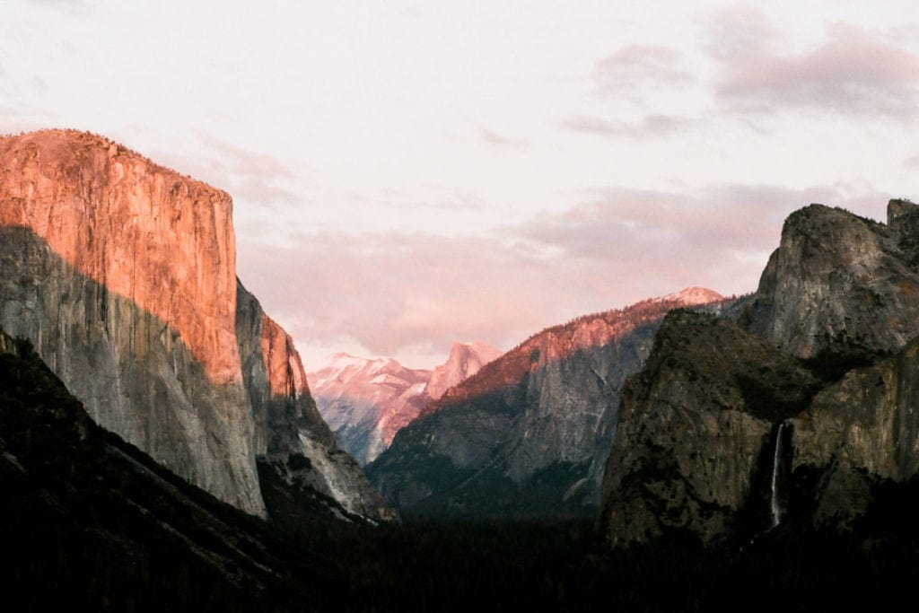 film photographer in Yosemite National Park