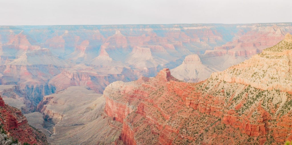 film photography at sunset of the Grand Canyon
