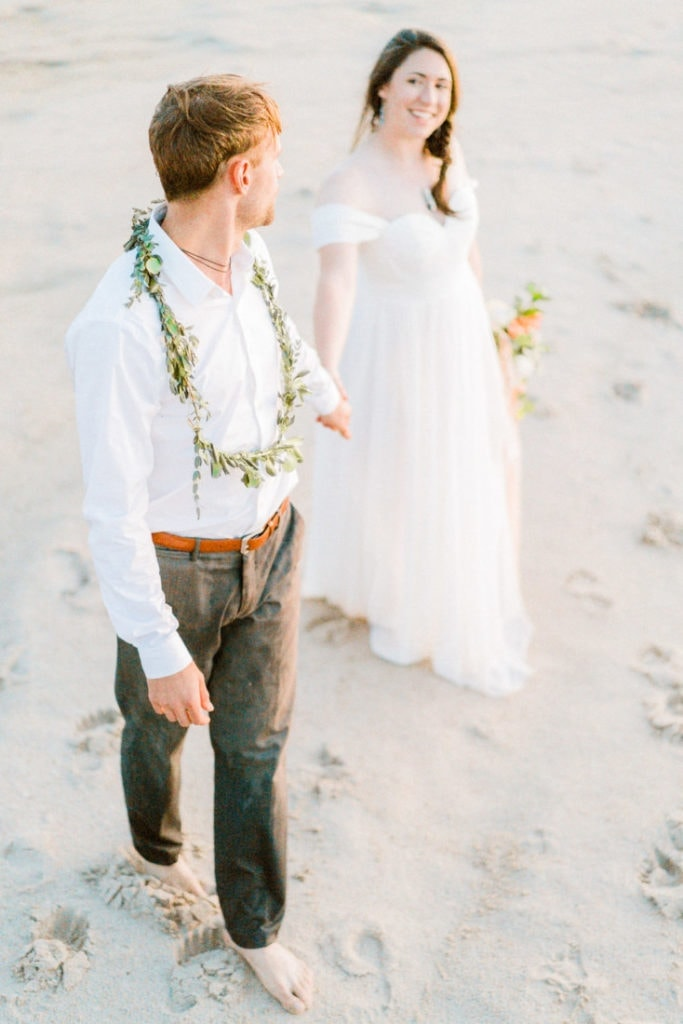 intimate wedding by a river