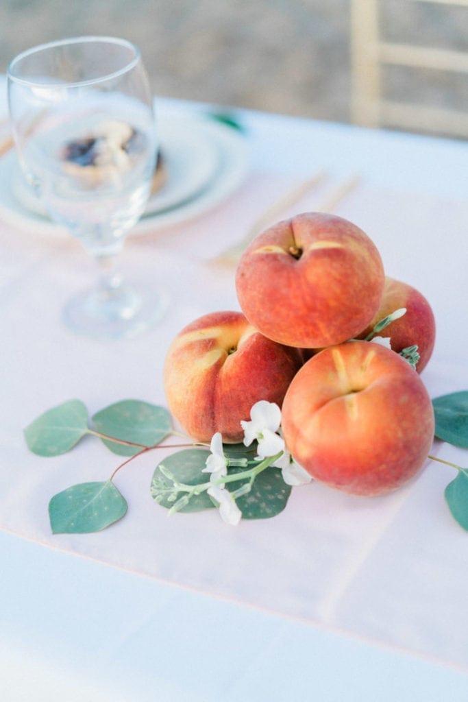 peaches at a wedding