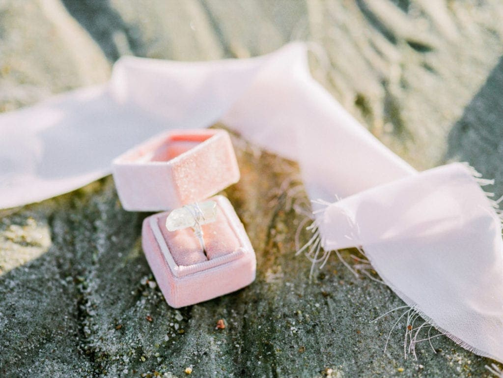 handmade wedding ring at a Platte River elopement