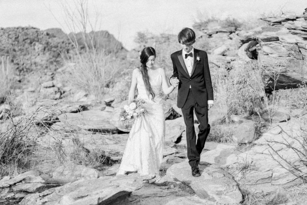 black and white film photography at an adventurous wedding