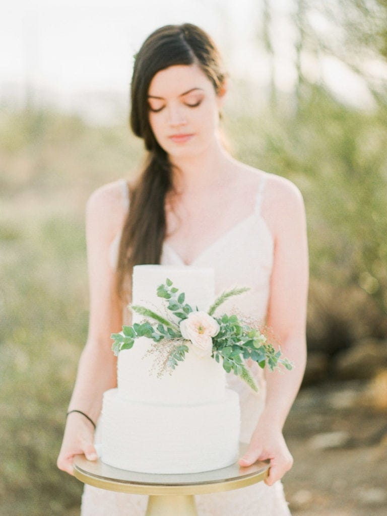 wedding cake for an Arizona bride