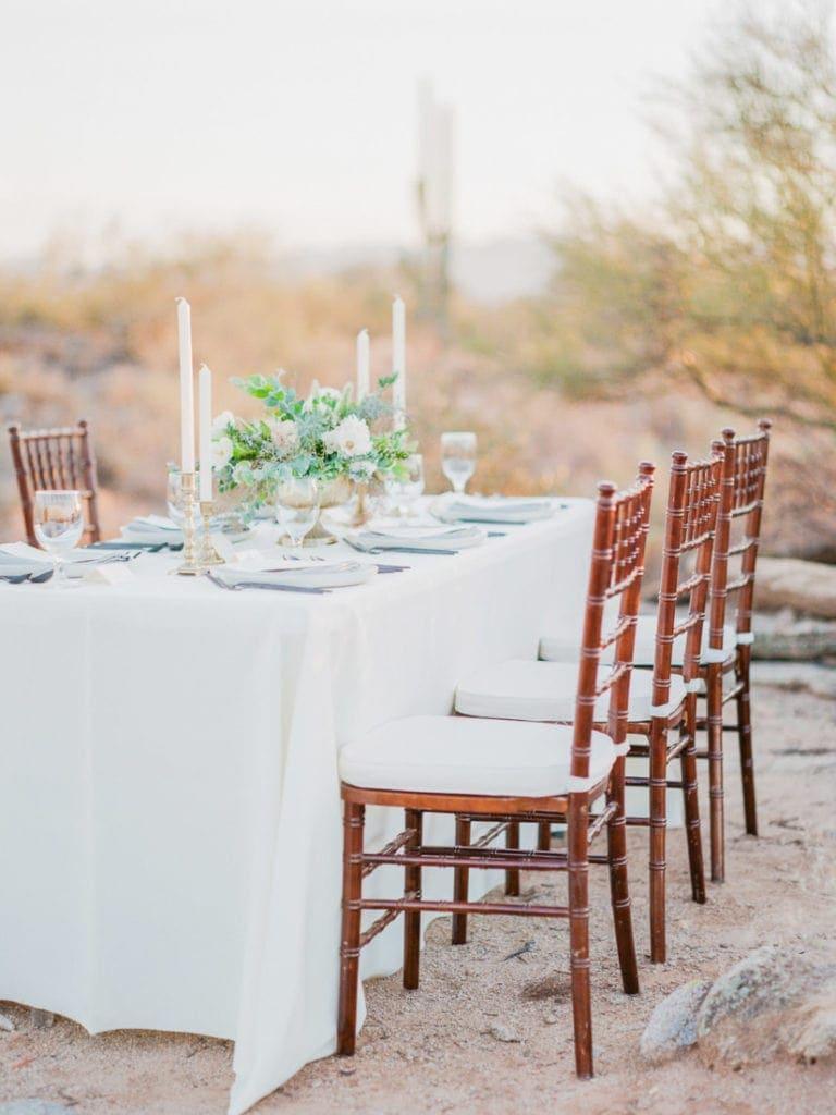 outdoor wedding in the Arizona desert