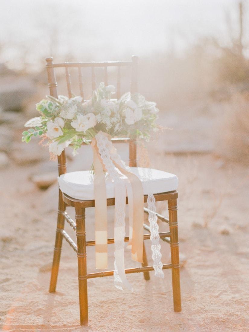 sunset at a destination wedding in Arizona