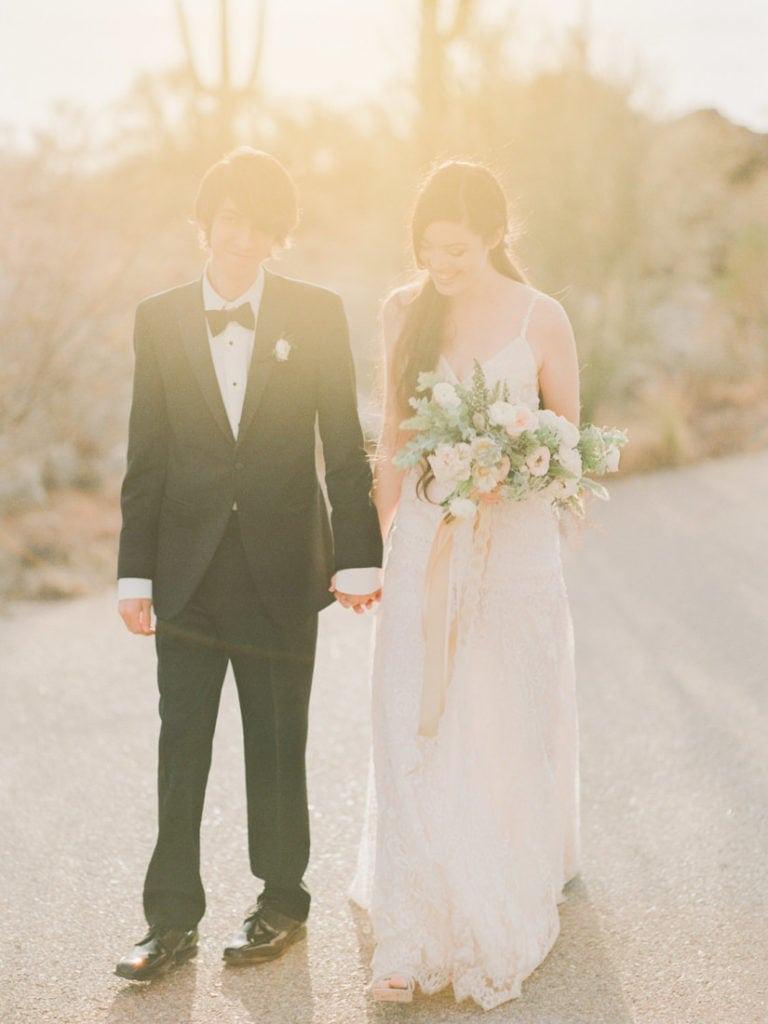 couple on their wedding in Phoenix, Arizona