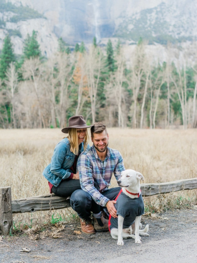 photography of a couple in Yosemite Valley