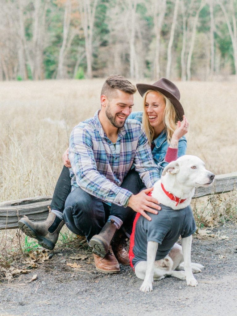 adventure session with a couple and their dog in Yosemite National Park