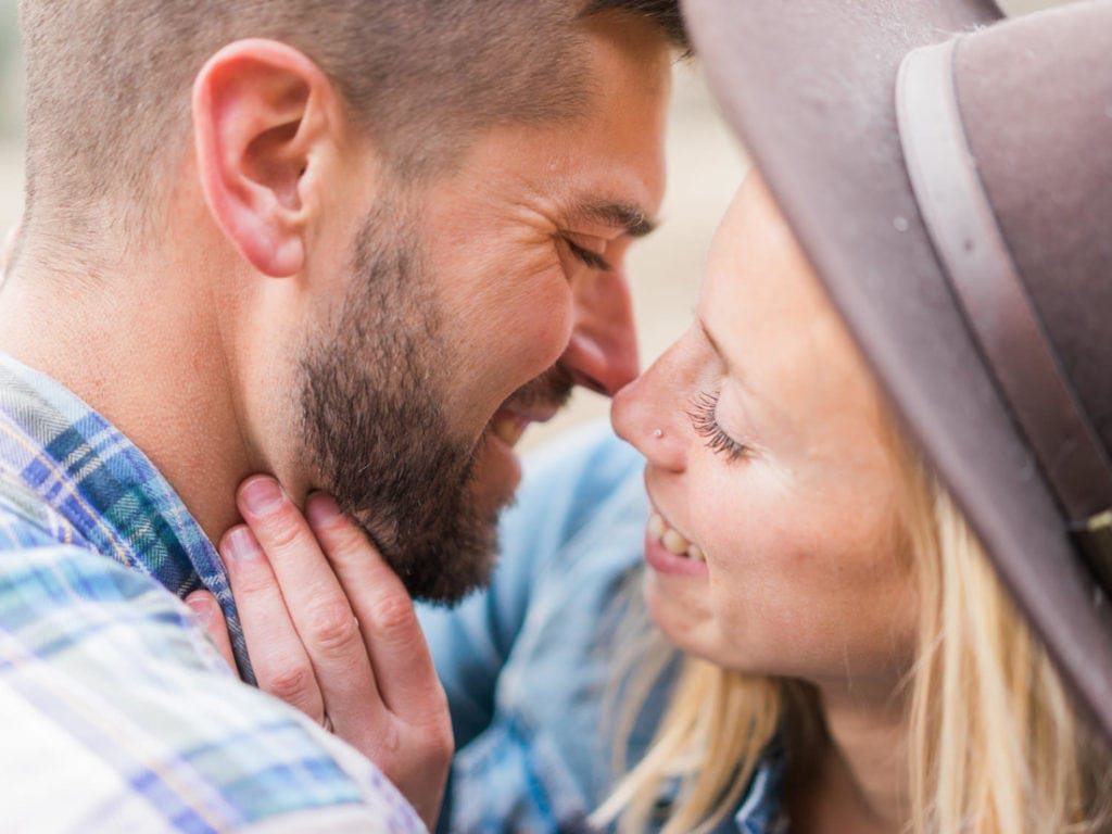 intimate engagement session in California