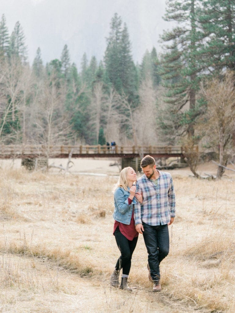 adventurous engagement session in Yosemite Valley