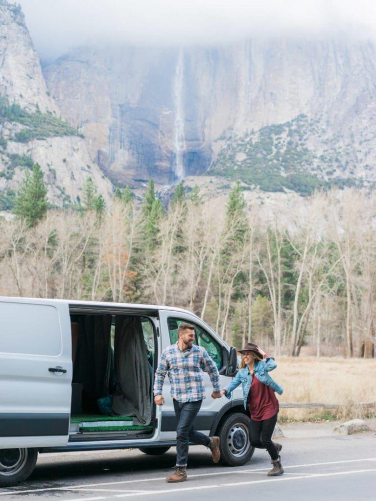 van life adventure session in Yosemite