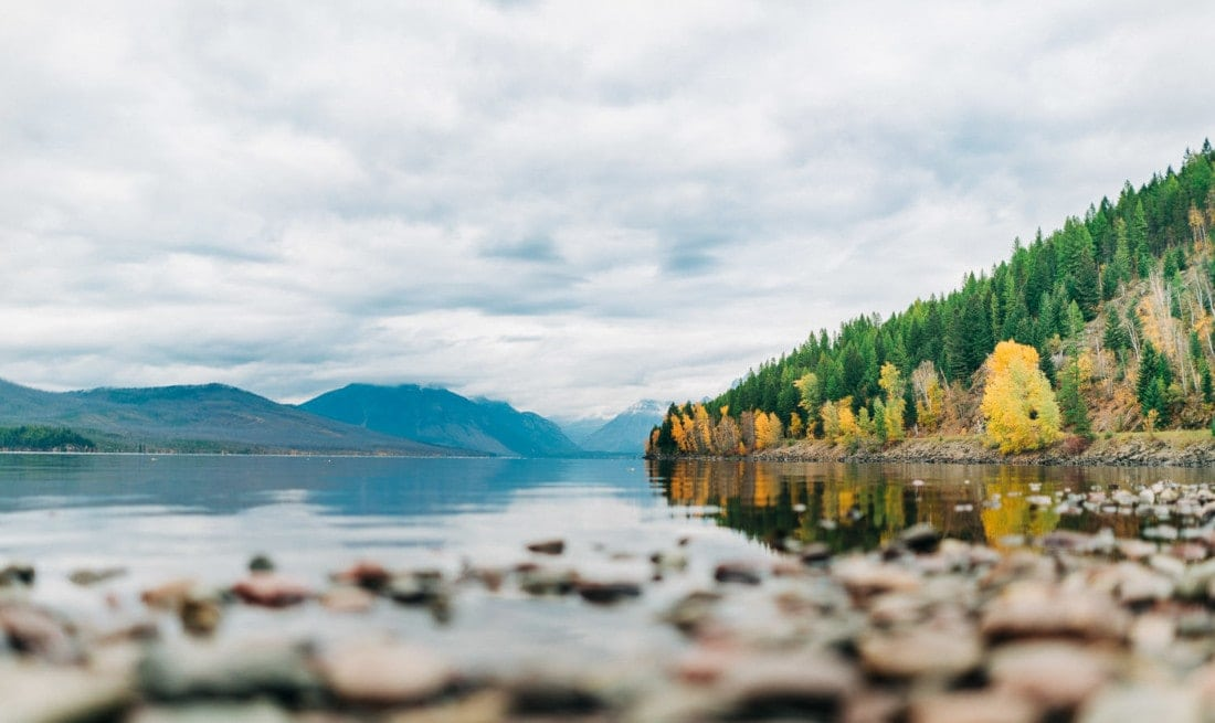 Lake McDonald during the fall in Glacier National Park in Montana