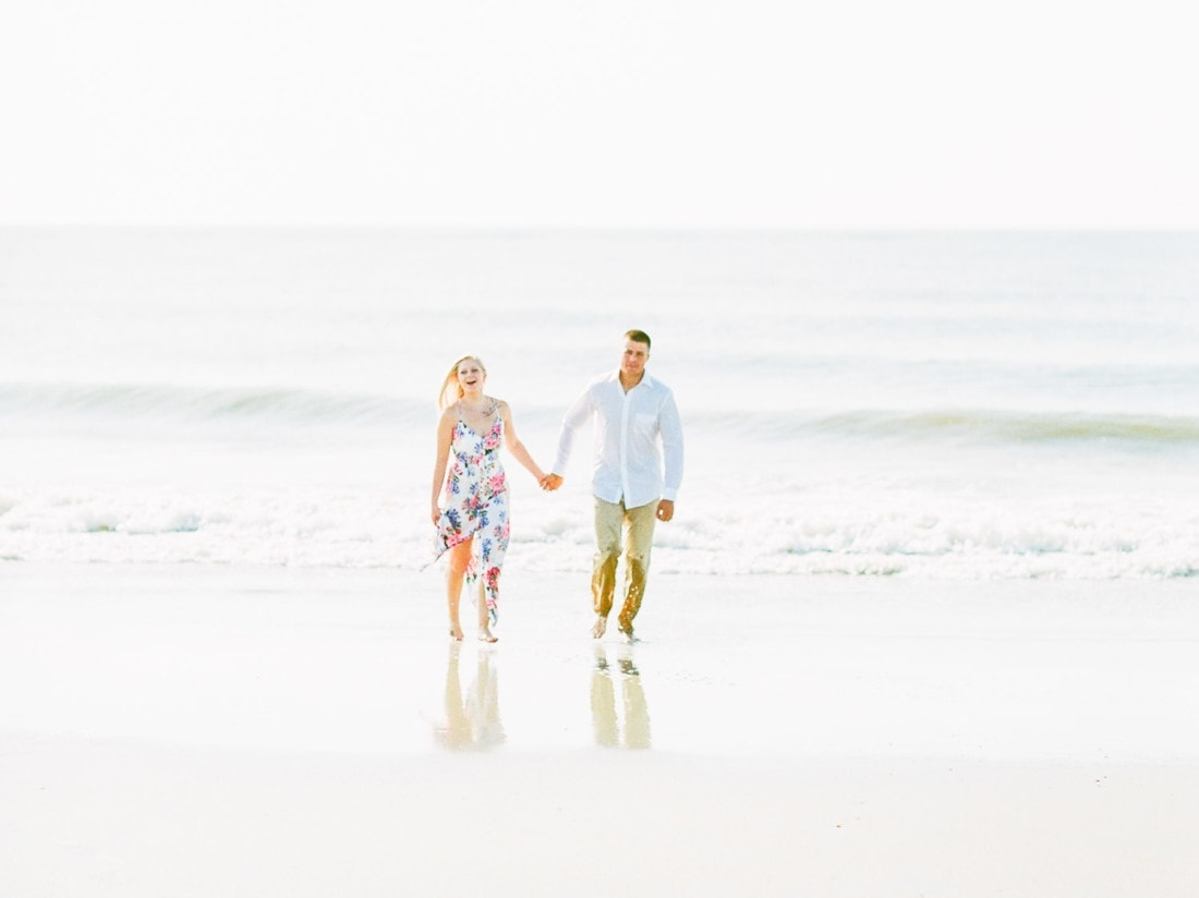 adventure session with a couple at Tybee Island, Georgia