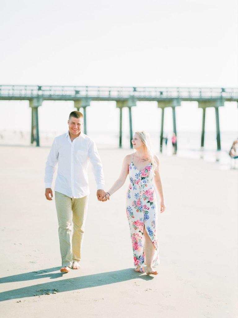engagement session at Tybee Island Beach near Savannah, GA