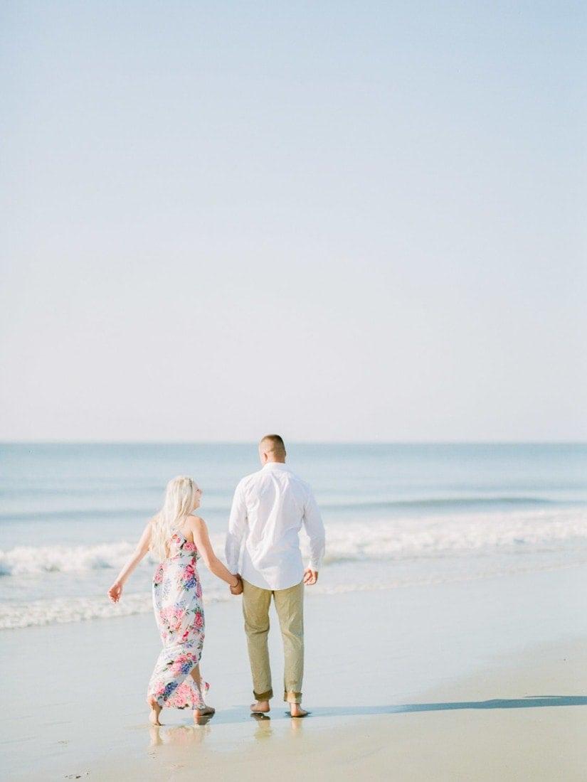 beach engagement session | Fuji 400H | Shell Creek Photography Savannah, GA wedding photographer