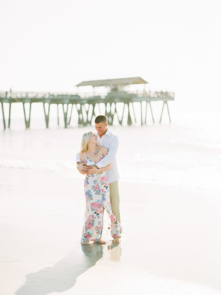 beach engagement session | Savannah, GA wedding photographer | Shell Creek Photography