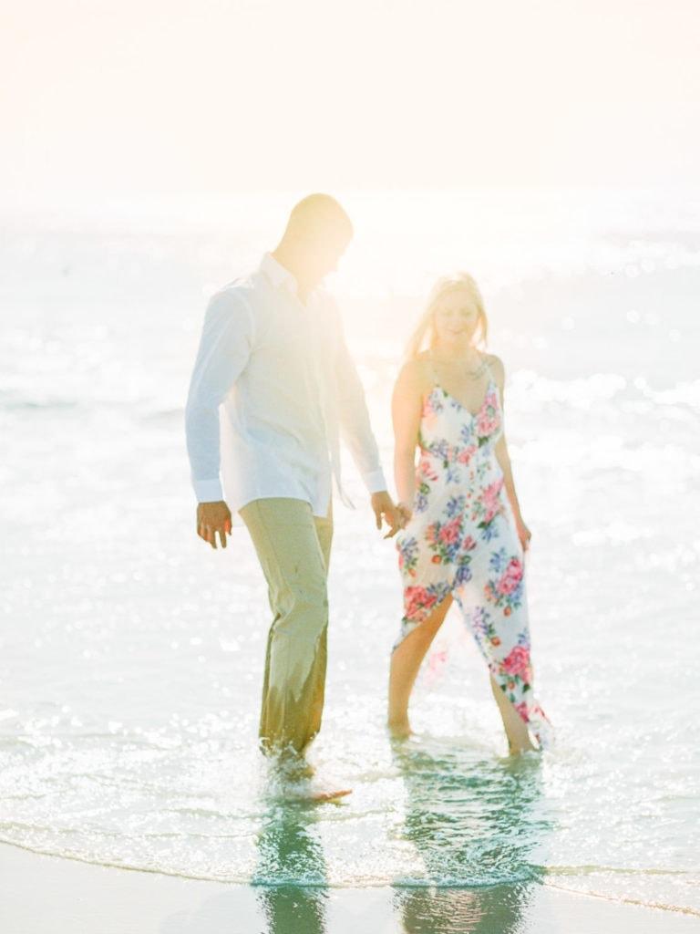 couples beach session | film photographer in Savannah, GA