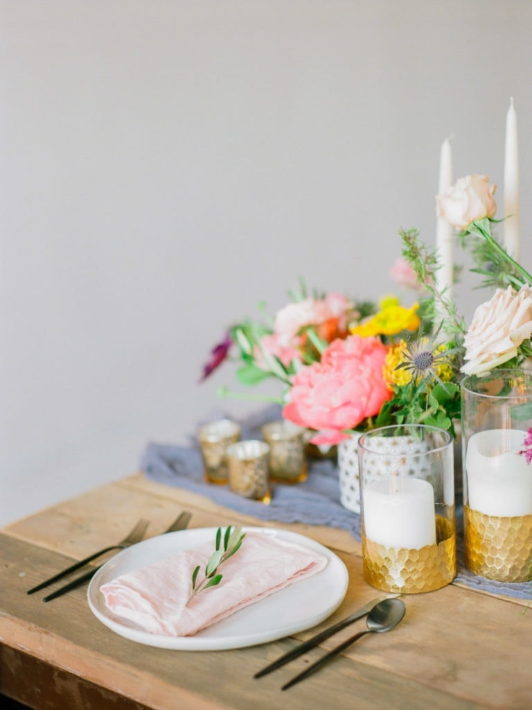 simple table setup by bou•quet Omaha