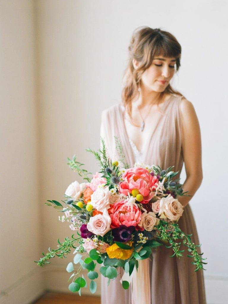 destination film photographer | bride on Portra 800 film