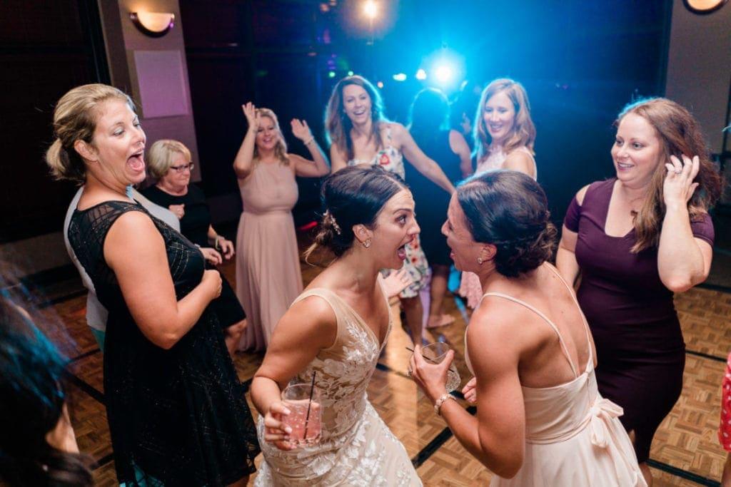 dancing at a wedding reception in Omaha, NE