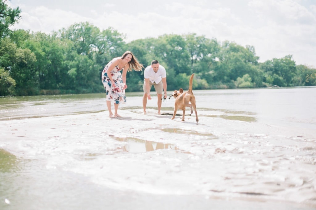 Andrew & Mindy | couples session with their dog