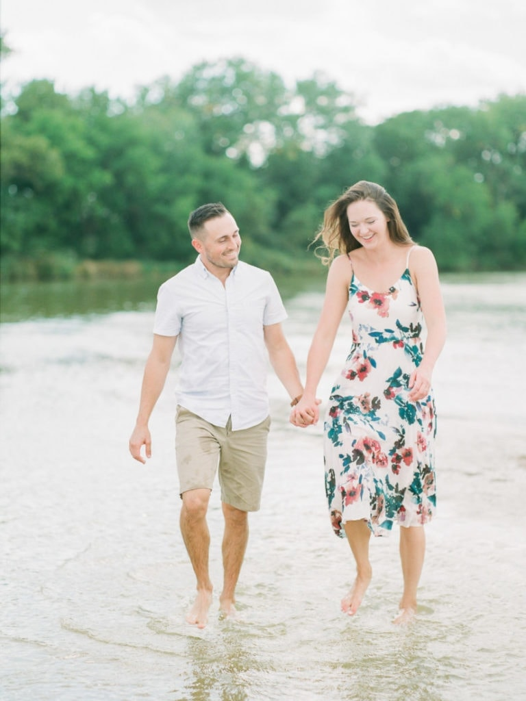 couples session on the Platte River