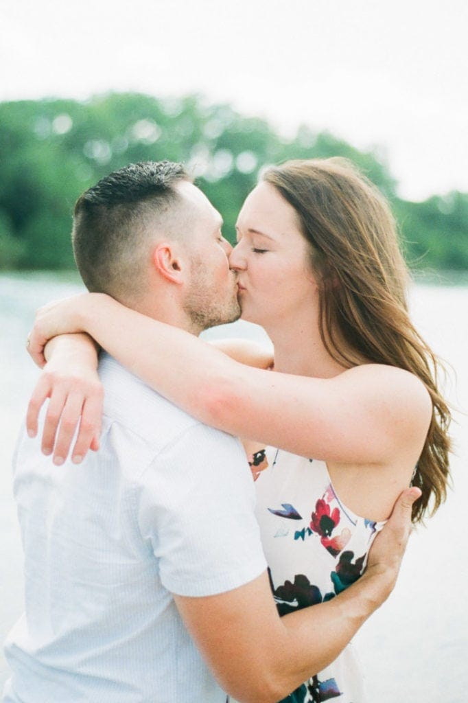 Mindy & Andrew | engagement session on the Platte River | Colorado film photographer