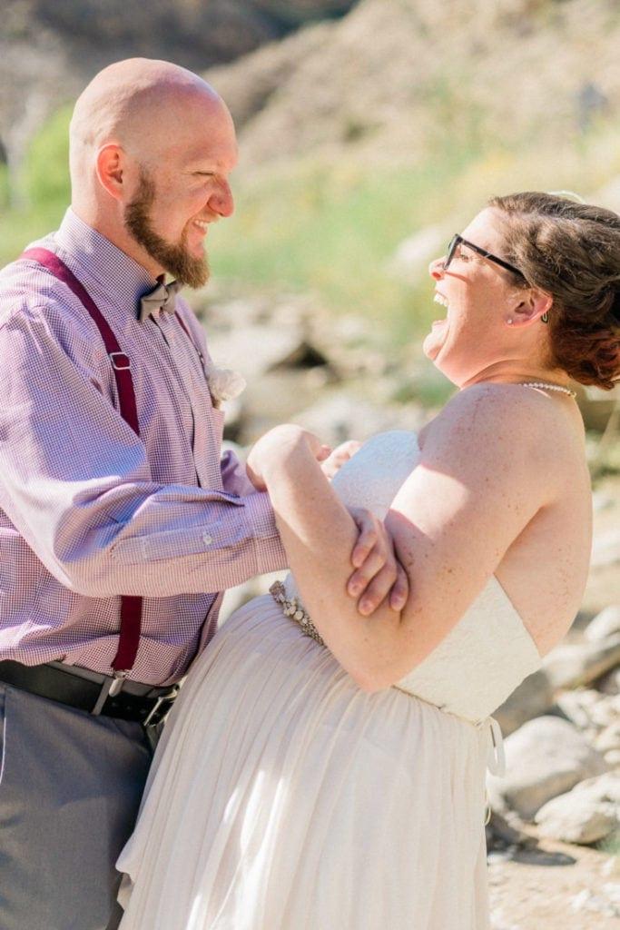 elopement in Colorado | fun wedding photos