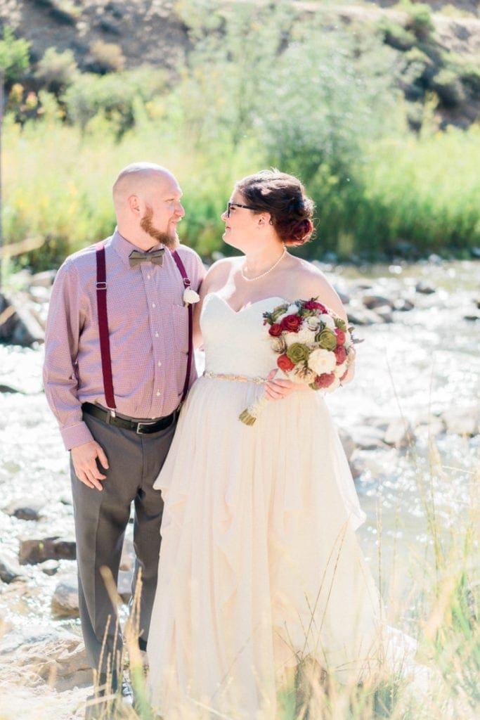 bride + groom elope in Colorado
