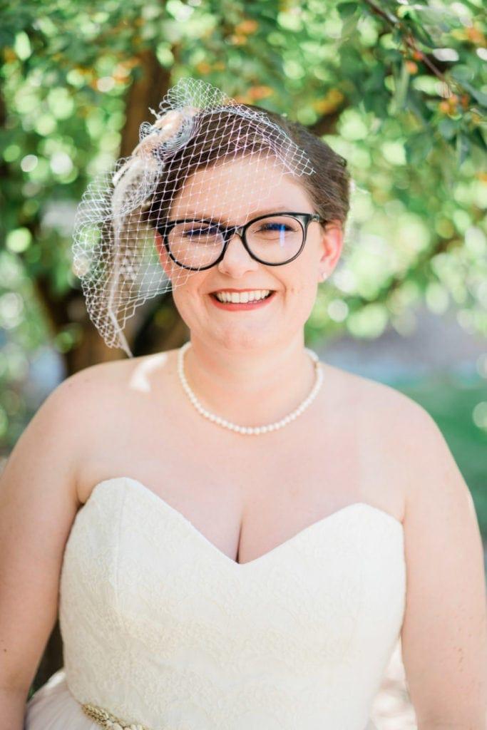 bridal portrait in Palisade | Colorado wedding