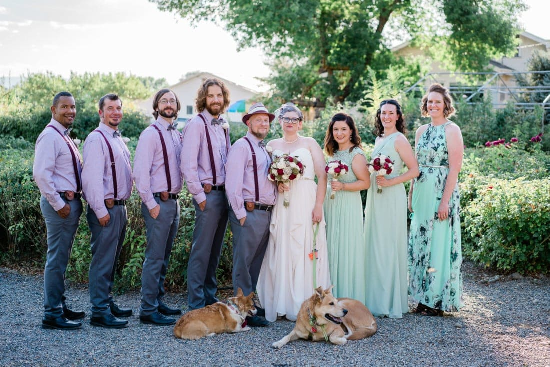wedding party at Varaison Vineyards in Palisade