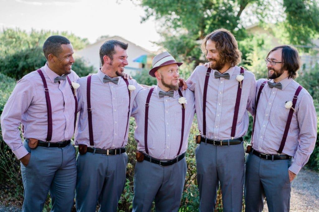 groom and groomsman at a wedding in Palisade | Colorado wedding photographer