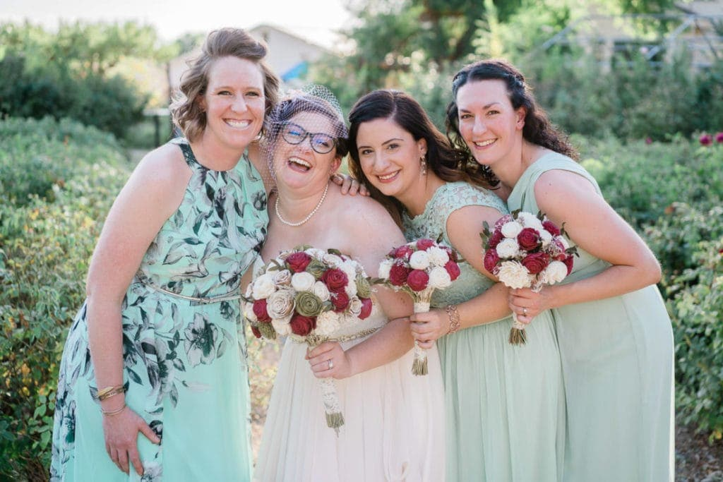 bride and bridesmaids | wedding photographer in Palisade, CO